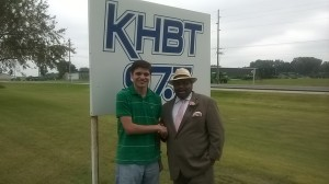 Jonathan Narcisse at KHBT Radio in Humboldt County Iowa