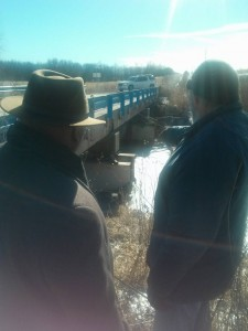 Jon Narcisse visits a bridge project in need in Keokuk County, Iowa